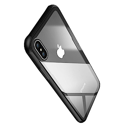 防摔專家 新款iPhoneX TPU邊框+防爆玻璃背蓋保護殼