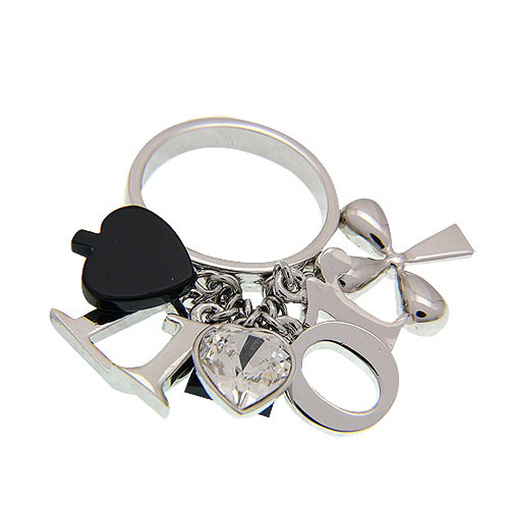 Dior 黑桃ACE戒指(黑色)