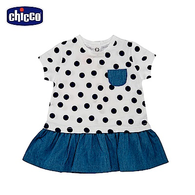 chicco-To Be Baby-短袖洋裝-圓點(12個月-4歲)