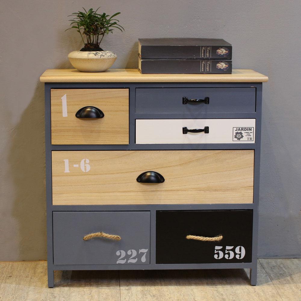 Asllie卡爾六抽收納櫃/玄關櫃/置物櫃-64x30x62cm(免組)