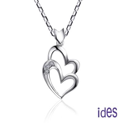 ides愛蒂思 兩情相悅。輕甜時尚6分美鑽項鍊/心型愛心