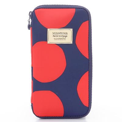 VOVAROVA空氣包-環遊世界護照夾-波卡圓點(紅)