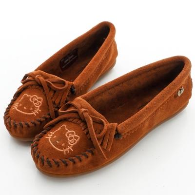 MINNETONKA KITTY聯名 棕色 莫卡辛平底鞋