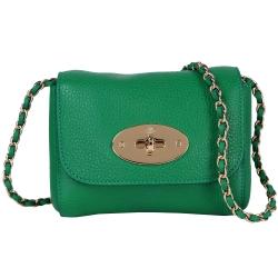 MULBERRY Mini Lily 牛皮經典鍊帶晚宴包(綠色)