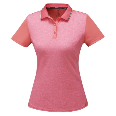 【ATUNAS 歐都納】ATUNAS-TEX女排汗短POLO衫A-P1707W粉紅