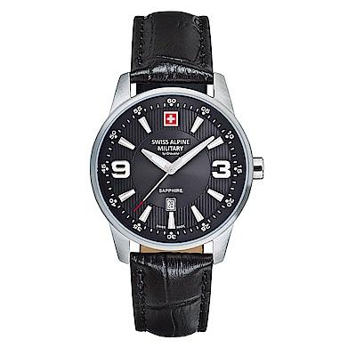 阿爾卑斯 S.A.M -獨家限定-飛翼系列-黑色錶盤/黑色皮帶/35mm