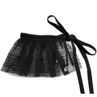 維多利亞的秘密 黑色蕾絲綁帶配件