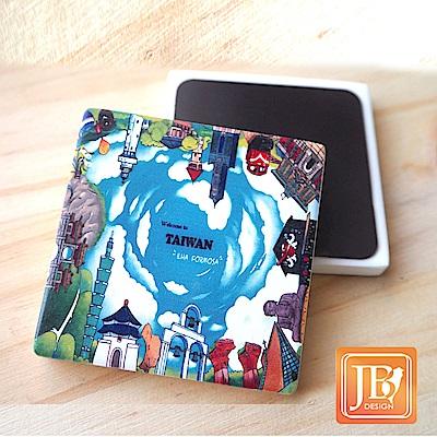JB Design_就是愛台灣杯墊方磁鐵-405_樂台灣