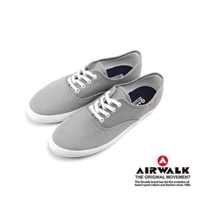 【美國 AIRWALK】繽紛一夏甜心女孩帆布鞋-女(灰色)