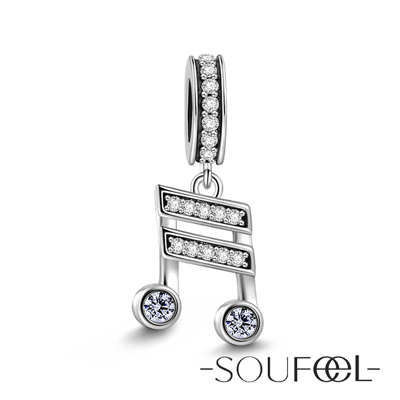 SOUFEEL索菲爾 925純銀珠飾 音符 吊飾
