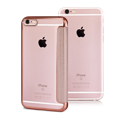 COLORS Apple iPhone 6/6s Plus 法式浪漫裸背皮套