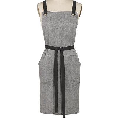 DANICA 雙口袋圍裙(灰)
