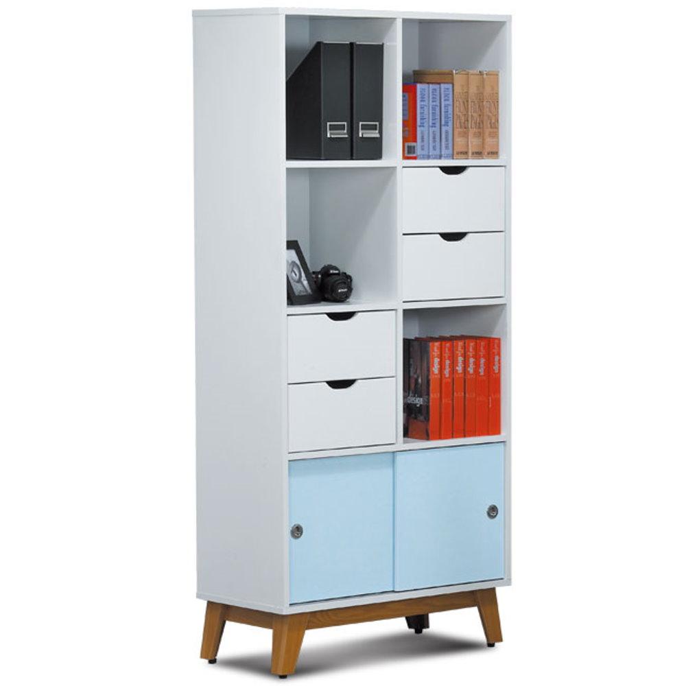 居家生活   維斯塔2.7x6尺雙色書櫃