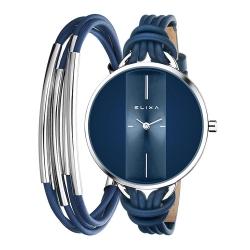 ELIXA Finesse精巧時間皮繩系列X手環組合 星辰藍38mm