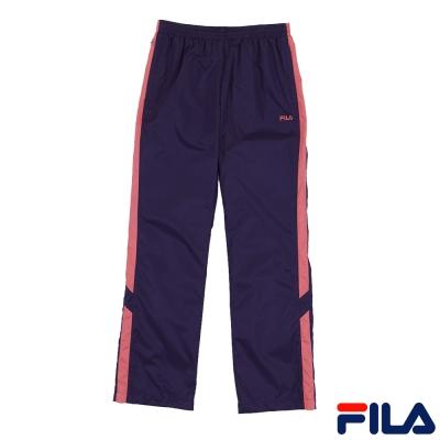 FILA女款平織長褲-藍紫5PNP-5526-DP