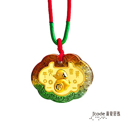 J'code真愛密碼 招財小狗黃金彌月木盒-0.1錢