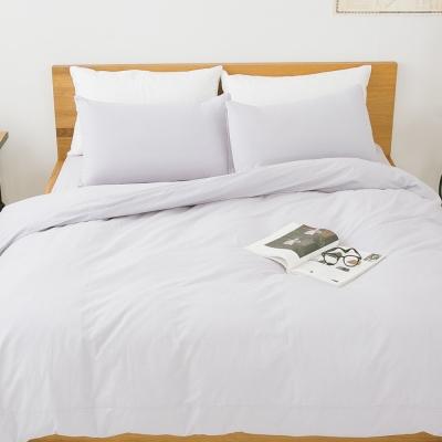 LAMINA 純色-雲灰-純棉四件式被套床包組(雙人)