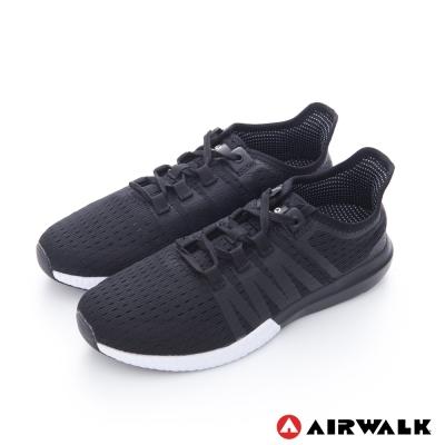美國 AIRWALK輕量透氣慢跑鞋運動鞋-女款(黑色)
