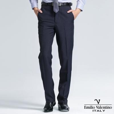 Emilio Valentino 范倫提諾經典細格平面西褲-丈青
