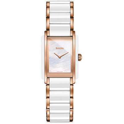RADO Integral 精密陶瓷系列腕錶-白/23x33mm