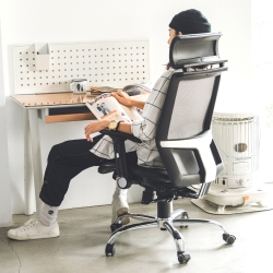 Home Feeling 高背頭靠美型機能鐵腳電腦椅/辦公椅/人體工學(4色)
