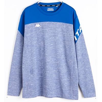 KAPPA 義大利 寶藍麻花 寶藍 KOOLDRY吸濕排汗型男彩色長袖衫