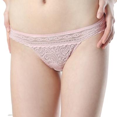 思薇爾-撩波系列M-XL低腰三角褲-水晶粉