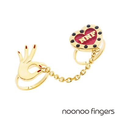 Noonoo Fingers Connect Heart Ring 愛心連接鍊 戒指