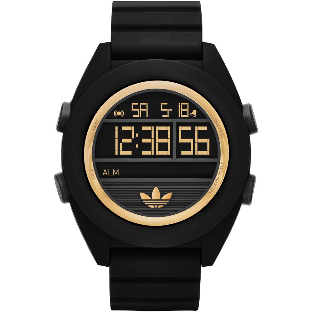 adidas Santiago 玩色派對液晶電子腕錶-黑x金/50mm
