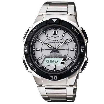 CASIO 新城市陽光遊俠電子運動錶(AQ-S800WD-7E)-不銹鋼X白面/42mm