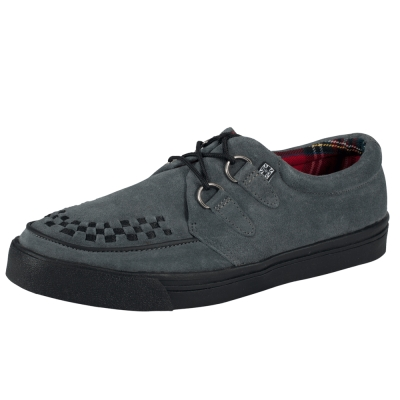 TUK麂皮龐克休閒鞋-灰