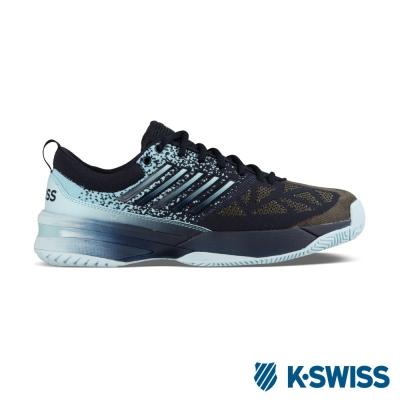 K-Swiss Knitshot專業網球鞋-男-黑/藍漸層