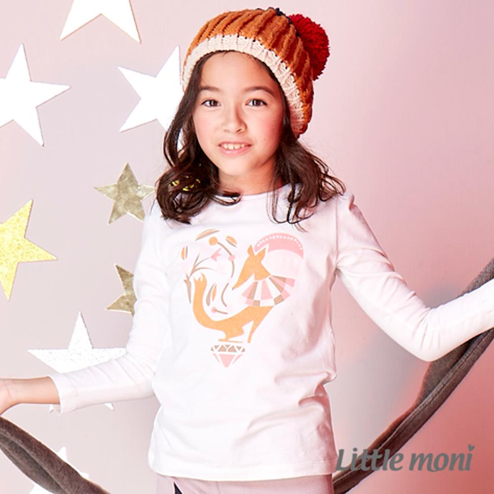 Little moni 幾何狐狸公主肩上衣 (共2色)