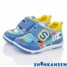 ShinKanSen新幹線 輕量減壓抗菌防臭防滑休閒童鞋-水藍