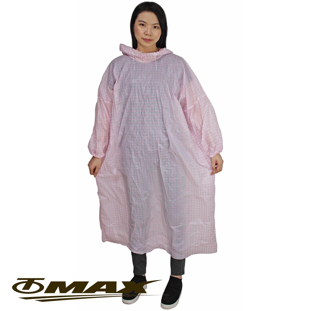 OMAX格紋粉彩輕便雨衣-12入(顏色隨機)-8H
