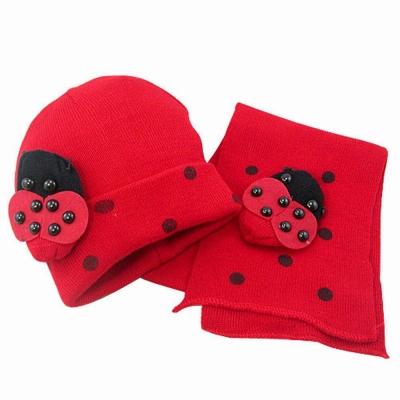 iSFun 西瓜瓢蟲 兒童圍巾帽組