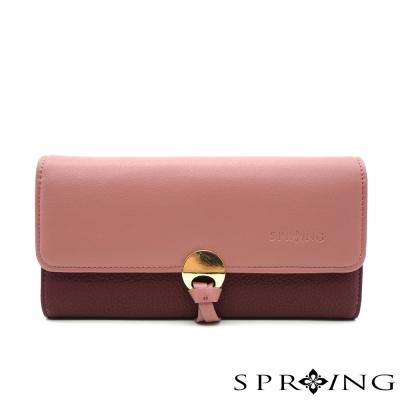SPRING-法式圓舞曲圓扣長夾-共5色