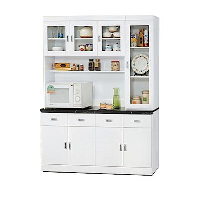 品家居 亞莉特5.3尺石面餐櫃組合-160x42.7x205cm免組