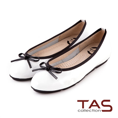 TAS-太妃Q系列-柔軟乳膠素面質感蝴蝶結娃娃鞋