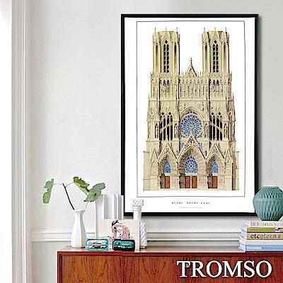 TROMSO北歐時代風尚有框畫-建築法國聖母院40X60CM