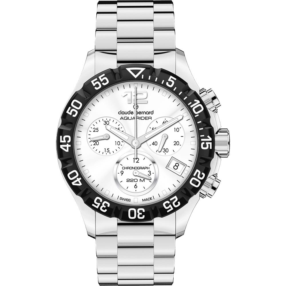 Claude Bernard Aquarider Sport 計時腕錶-銀/36mm