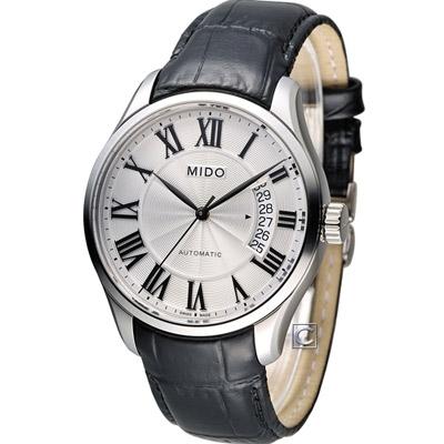 MIDO Belluna II 80小時動力儲機械腕錶-白x黑/40mm