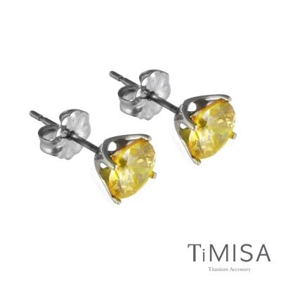 TiMISA《純鈦簡愛(M)七色可選》純鈦耳針一對