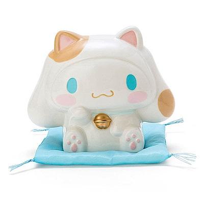 Sanrio 大耳狗喜拿可愛招財貓造型陶磁存錢筒