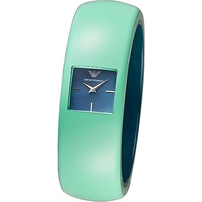 Emporio Armani華麗挑戰時尚風格女錶AR7367-綠25mm