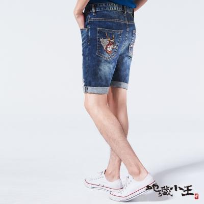地藏小王 BLUE WAY 地藏獅子舞短褲-牛仔藍