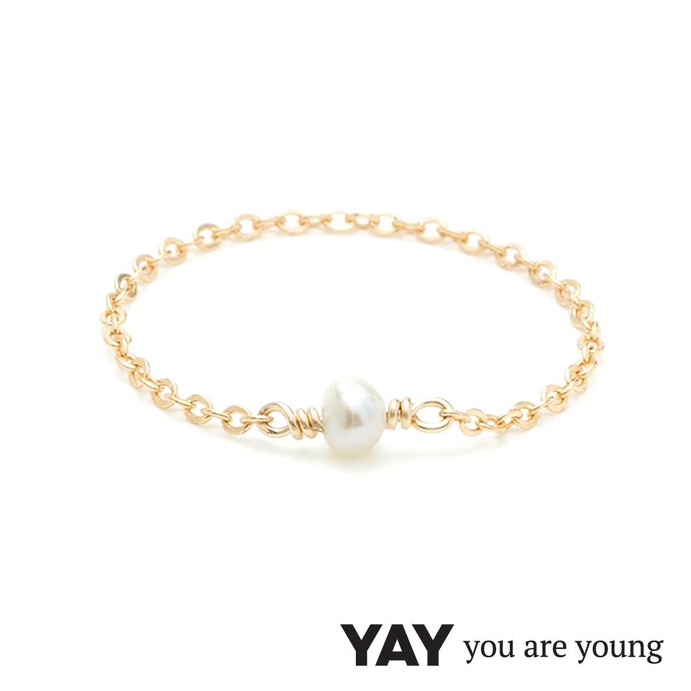 YAY You Are Young 法國品牌 Stella 珍珠鍊戒 金色