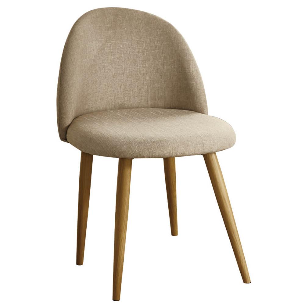 AT HOME 喬絲麻紗咖啡布鐵藝餐椅