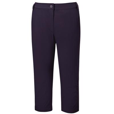 【ATUNAS 歐都納】女款防曬彈性透氣休閒七分褲 A-PA1608W 深紫