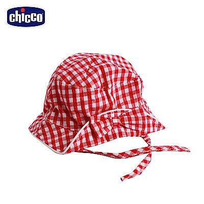 chicco-野餐-格紋帽-白